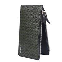 Wholesale Double Fold Wallet - allets Holders Wallets 2016 Famous Brand Double Zipper Double-deck Folding Men Long Wallets, Large Capacity 18 Card Slot Wallet Coin Clut...