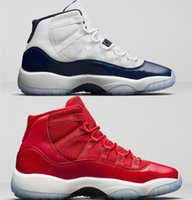 Wholesale Womens Navy Blue Boots - 2017 New Air Retro 11 UNC Gym Red Midnight Navy Man Basketball Shoes Win Like 82 96 womens Sports Trainer Sneakers US 5-13