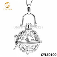 Wholesale Sterling Silver Harmony Ball Pendants - Wholesale-Wholesale & Retail For 925 Sterling Silver 16mm Harmony Ball Fashion Chime Bell Angel Caller Jewelry CYLZ0100