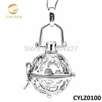 Wholesale-Wholesale Retail for 925 Sterling Silver 16mm Harmony Ball Fashion Chime Bell Angel Caller Jewelry CYLZ0100