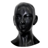 lächeln masken großhandel-Wholesale-New plus dicke 1mm anatomische 3D Maske w Ohren Fetisch Latex Kapuze Sexy Gummi Lächeln Gesicht schwere Männer Frauen