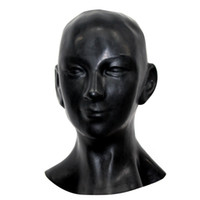 Wholesale Ears Hood - Wholesale-New plus thick 1mm Anatomical 3D mask w ears fetish latex hood Sexy rubber Smile face heavy men women