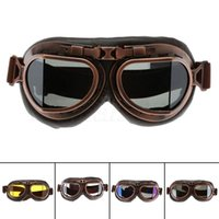 Wholesale Cheap Wholesale Scooters - 2017 High Quality Cheap Retro Vintage Aviator Pilot Motorcycle Cruiser Scooter Biker Goggles Windproof Dustproof Outdoor Eyewear H205