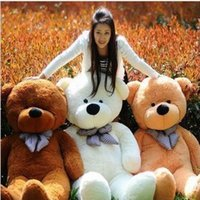 Wholesale Life Size Dolls For Sale - Hot Sale 160cm Brown Life Size Doll Plush Large Teddy Bear For Sale Giant Big Soft Toys Teddy Bears Valentines Christmas Birthday DayGift