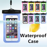 Wholesale Dry Grass - hot sale Beach Diving Swimming Waterproof Case Bag For Iphone Samsung PVC Protective Ourdoor Dry Bag For Universe Phone Up To 6 Inch