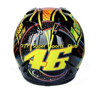Wholesale Rossi Helmets - Wholesale-2015 ABS Valentino Rossi Motorcycle Full Face Helmet Marushun Capacete Casco