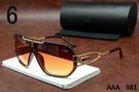 Wholesale Big Size Sunglasses - Cazals Sunglasses 881 Mens Womens Glasses With Case Germany Designer Eyewear Fashion Unisex Gold Metal Big Size Sun Glasses