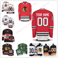 Wholesale Cheap Custom Hockey Jersey - Stitched Custom Chicago Blackhawks mens womens youth OLD BRAND 2017 Winter Classic Green White Red Black Third ice hockey cheap Jersey S-4XL