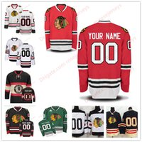viejo barato al por mayor-Stitched Custom Chicago Blackhawks mens womens youth ANTIGUA MARCA 2017 Winter Classic Green White Red Black Third hockey sobre hielo cheap Jersey S-4XL