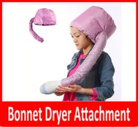 Wholesale Haircare Wholesalers - wholesale Portable Hair Dryer Soft Hood Bonnet Attachment Haircare Salon Hairdress Treatment Cap Color Pink and Grey Randomly Ship