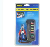 Testeurs D'ems Pas Cher-Par DHL ou EMS 100pcs Tirol 12V Digital batterie / testeur d'alternateur avec 6 LED Lights Display