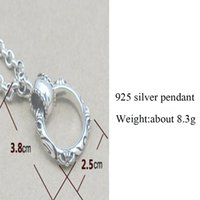 pingente redondo BALMORA 100% Real Puro 925 Sterling Silver Jóias Cross Round Pendant Fits for Necklace for Men, Male Cool Jewelry HYP006