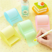 Wholesale Paper Memo Pads - kawaii fluorescent paper sticker memo pad sticky notes post it stationery papelaria material escolar school supplies