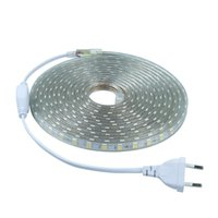 Wholesale pcs standards - Popular UL CE FCC Standard led strip flexible light SMD 5050 60LEDs m with Plug for AC110V or AC220V