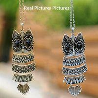 Wholesale Cute Owl Necklace Big Eyes - Tomtosh 2017 Fashion Necklace Bronze Cute Owl Necklace With Big Eye Pendant Vintage Necklace