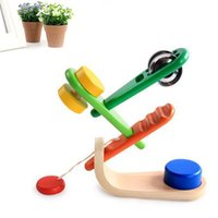 Wholesale Toddlers Music Instruments - Wholesale- Wooden Music Instrument Set Kids Babys Toddlers Educational Toys Bells Art