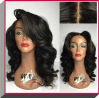 Wholesale Dark Blonde Wavy Wig - Natural hairline virgin brazilian glueless full lace wigs human hair front lace wigs Body wave wavy natural color with baby hair