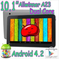 Wholesale Extra Touch - 10 inch A23 Dual Core Bluetooth Tablet PC Allwinner Capacitive Touch Screen Android 4.2 1GB RAM 8GB Play Store Wifi 2 Webcam