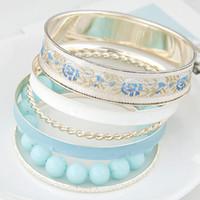 charme für armbänder eine richtung großhandel-Mode Multi Schicht Gold Armbänder Armreifen für Frauen Bijoux Gold Armreifen Perlen Kette One Direction Charme Armband Manchette