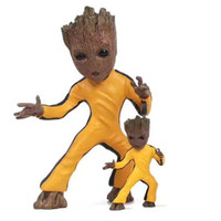 Wholesale Bobble Man - Guardians of the Galaxy Keychain Popular Funko Pop Keychain Dancing Groot Finger Potted Bobble Head Tree Man Juguetes Toy