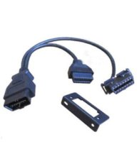 Wholesale Obd2 Y Connector - Wholesale OBD II OBD2 Y Adapter Diagnostic Connector Extension Cable Snap-in Universal Bracket Fits For Any Car High Quality M9809