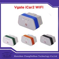 Wholesale Diagnostic Ipad - Original Vgate iCar iCar2 WiFi ELM327 OBD Diagnostic Tool for IOS iPhone iPad Android PC and OBDII Protocols Cars Support Wifi