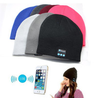 Wholesale Dome Wireless - Soft Warm Beanie Hat Wireless Bluetooth Smart Cap Headphone Headset Speaker Mic