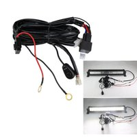 Wholesale Relay Switches - Universal 3M LED Work Light Bar Wiring harness set Wiring kit 12V 40A Switch Relay kit