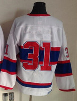 Wholesale Ccm Wholesale - 2015 New Hockey Jerseys #31 Jersey Throwback White Color CCM Price size 48-56 Mix Order Stitched