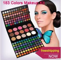 Wholesale Eyeshadow 183 Colors - 183 Colors Fashion Eye shadow palette Cosmetics Mineral Make Up Makeup Eye Shadow Palette eyeshadow set for women 3 layers Kit