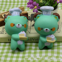 Venda quente Cute Chef Bear Soft Cartoon Doll Squeeze Squishy Slow Rising Package Gift Kids Toy