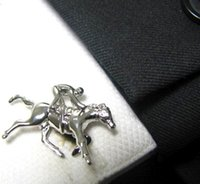 Wholesale Engraved Copper - Silver Polo Cufflinks Sport Cuff Links Custom Engraved Cufflink Unique Mens Gifts cf552