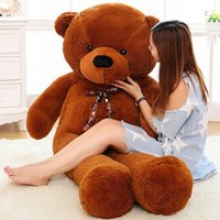 Wholesale life size toy christmas - Super Giant Teddy Bear 2m 200cm 78''inch Huge Plush Stuffed Animals Toys Life Size Birthday Gift Big Large Toy