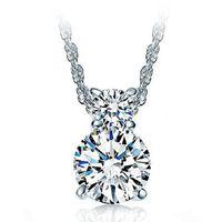 Wholesale hypoallergenic pendant necklace - 925 sterling silver pendant fashion female zircon Crystal gourd Necklace Pendants hypoallergenic women's jewelry