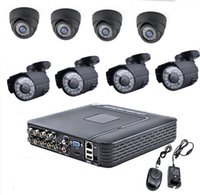 Wholesale Dvr Camera Alarm System - Via DHL EMS H.264 8CH DVR 8X1300TVL CCTV Home Security 24 IR 3.6MM Indoor 6MM Outdoor Night Camera With IR-CUT Home Alarm System