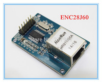 Wholesale Network Crystal - Wholesale-ENC28J60 LAN Ethernet Network Board Module for arduino 25MHZ Crystal AVR 51 LPC STM32 3.3V free shipping