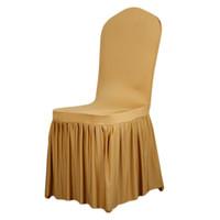 silla cubre bodas para la venta al por mayor-Fundas de silla de spandex universales modernas China para bodas Decoración Fundas de silla de fiesta Fundas de silla de comedor Inicio Venta caliente