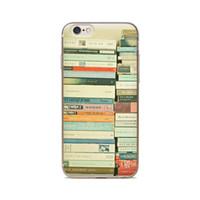 TPU stacking cover - For iPhone S S C S Plus A Stack Of Books Background Of Skin TPU Silicone Gel Protective Cover