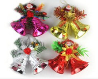 Wholesale Large Bell Decorations - Hot 19 cm large double bell and act the role of party decorations Christmas is hanged adorn The Spring Festival evening party supplies