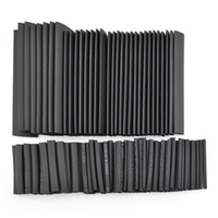 Wholesale Heat Shrinkable Tubing - 320pcs 8 Sizes 1.0 2.0 3.0 4.0 6.0 8.0 10.0 13.0mm Heat Shrinkable Tube Shrink Tubing Black Wire Wrap