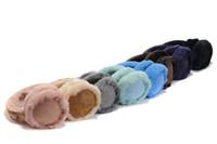 Wholesale Sheepskin Earmuffs - 2018 Top quality Australian sheepskin chestnut earmuff brand green female snow earmuffs fashion fur winter warm earmuffs 8 colors