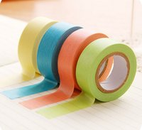 Wholesale Multicolour Paper - Scotch Decorative Tape Scrapbooking Stickers Fresh Shredded Multicolour Candy Color Paper Tape Diy Sticker free Shipping
