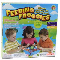Wholesale Crazy Baby Toys - Feeding Foggies Crazy Frog To Eat Beans For the ball with beads Baby Toys Baby kids Interaction Educational Feeding Frog Child Toy b1092