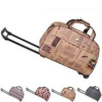 Wholesale Travel Bag Wheel Men - Wholesale Fashion Waterproof Tourism Trolley Bags Men Women Luggage Travel Bags Trolley Wheels Boarding Rolling Luggage JO0013