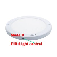 Wholesale Led Ceiling Lights Infrared - 18W LED Panel Light Ceiling Lights Led sensor Downlight Human Body Infrared Detector Motion Switch Flush Mount Light
