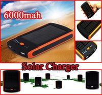 Wholesale Dual Port Universal Power Bank - Universal 6000mAh Dual USB Port Solar Charger 6000 mah Solar Power Bank STD-S6000 Battery Solar Panel For Mobile Cellphone Laptop MP4