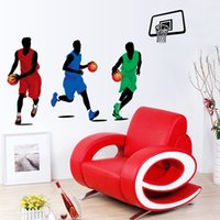 Art de basket-ball match Wall Decal Sticker Cracked Football murale Transparent PVC amovible Décoration Art Decor