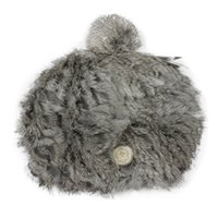 Wholesale Men Hair Cute - Wholesale-New Cute Women Lady Winter Hats Two Colors 100% Rabbit Hair Fur Handmade Hats Caps For Valentines Gift 1248