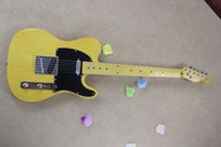 Wholesale Electric Guitar Yellow - Free shipping wholesale High Quality F tele Ameican Art signature telecaster yellow Electric guitar