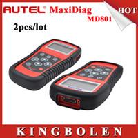 Wholesale Maxidiag Md - [2pcs lot]2015 Original Autel MaxiDiag PRO MD801 auto scanner 4 in 1 code reader md-801(JP701+EU702+US703+FR704) DHL Free